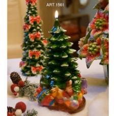 Weihnachtsbaum Grün, Kerze H 25 cm Ø 13 cm