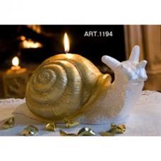 Kerze Schnecke Gold, gross 30x15 cm H 12, handgemacht