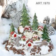 Schneelandschaft als Kerze, Maxi Ø 58, H 45 cm