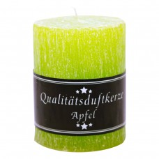 Parfümierte Zylinderkerze, Apfel, 90/70mm