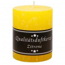 Parfümierte Zylinder Kerze, Zitrone, 90/70mm