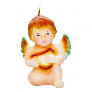 Kerze sitzender Engel, 10 cm, handgemacht