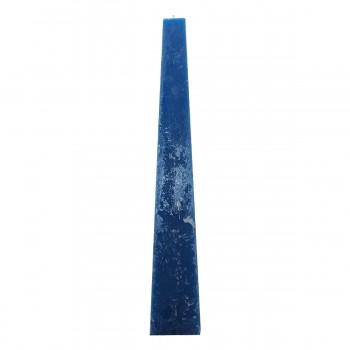 Pyramiden Kerze Farbe blau, 54/15 cm, Brenndauer 135 Std. ohne Parfum
