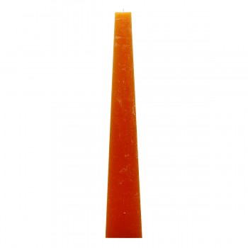 Pyramiden Kerze, Farbe Orange, 54/15 cm, Brenndauer 135 std, ohne Parfum