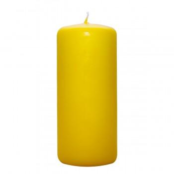 Stumpen Kerzen gelb, 14/55mm, Brenndauer 60 Std.