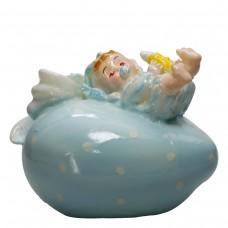 Baby & Herz Blau, Kerze Ø 12 cm, liebevoll von hand gefertigt