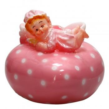 Baby & Herz rosa, Kerze Ø 12 cm, liebevoll von hand gefertigt