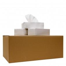 25 Kosmetiktücher neutral, 100% Zellstoff, 4-lagig, 1 Karton