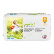 Swilet – Die Biowindel Gr. 2 Mini (3 – 6kg), Beutel, (28 STK) (1 Karton 6 x 28 STK)