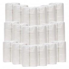 108 Rollen WC-Papier 4-lagig, 100% Cellulose, 18x6 Rollen, 150 Blatt,